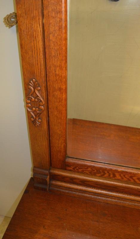 17536 Victorian Oak Heavy Carved Bedroom Set