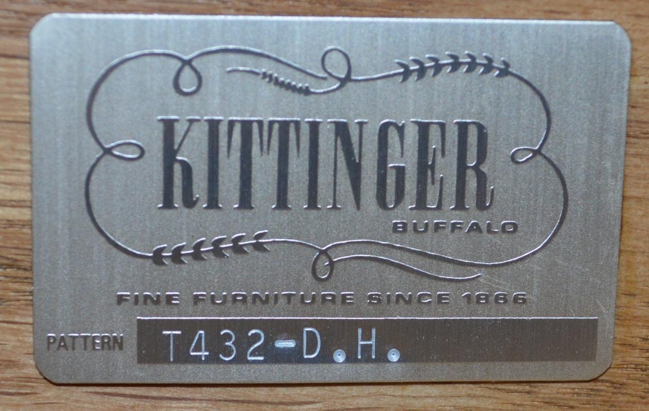 17937 Kittinger Executive Leather Top Desk