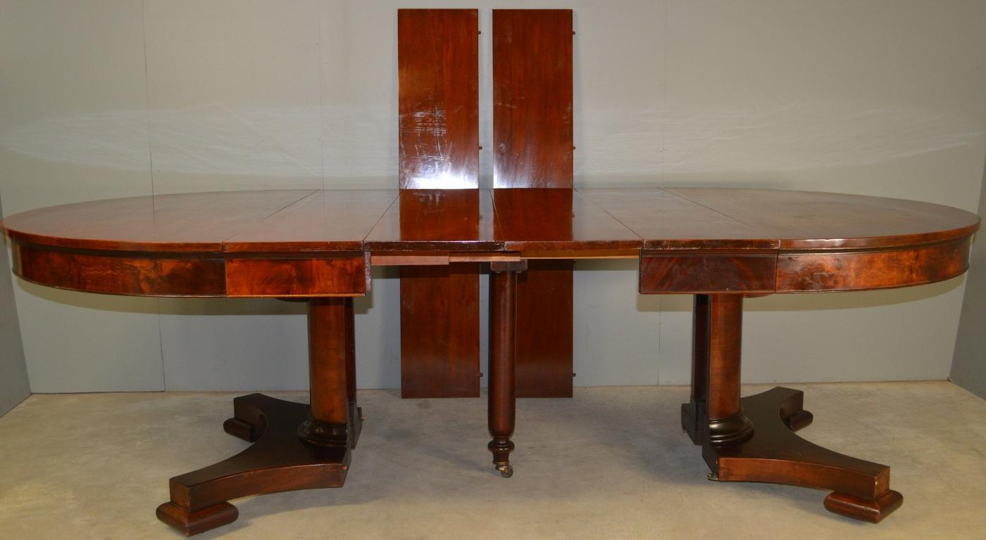 17899 Mahogany Empire Period Banquet Table – Opens 10 Feet