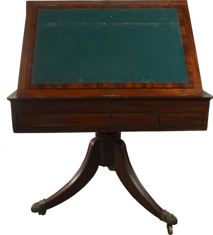 19829 Rare Irish Mahogany Architect's Table