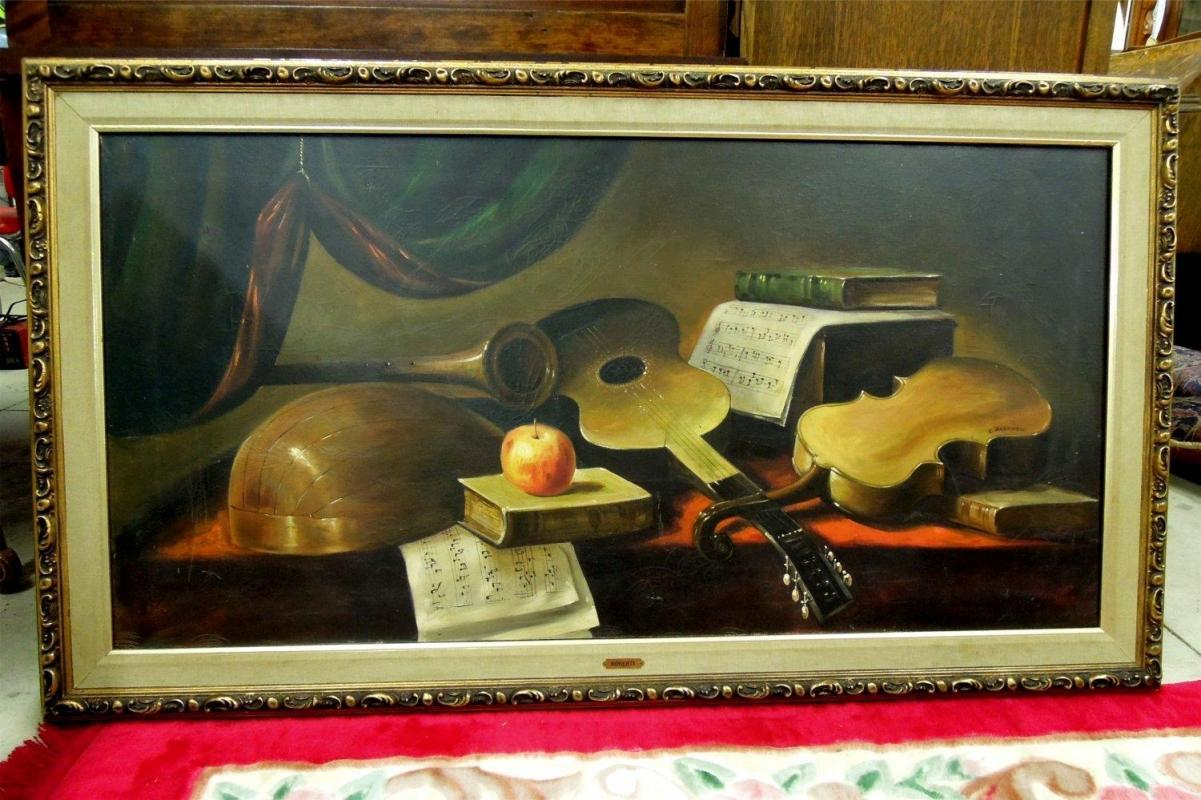Giusseppe Roberti  Oil Painting  Signed