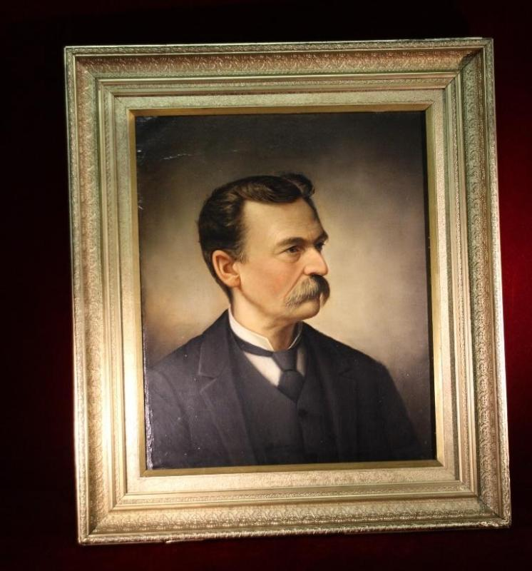 Antique Oil Portrait Dignitary Man 1800's  Lifelike Signed