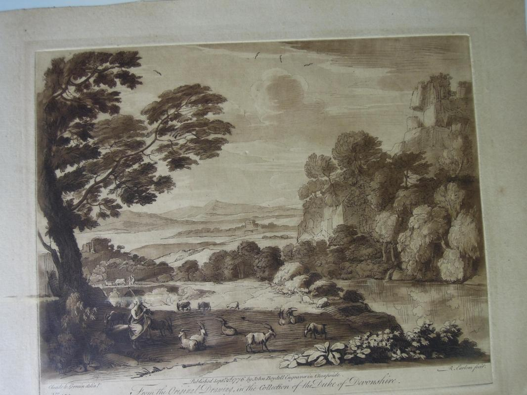 Print Liber Veritaits After A Landscape with Cattle Second