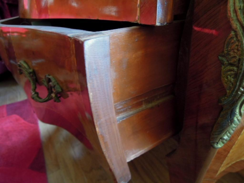 French Bombay Commode Chest Marble Top Ormolu Accents