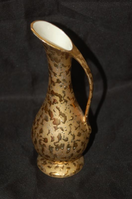 GOLD DECORATED EWER BY CRAWFORD POTTERY
