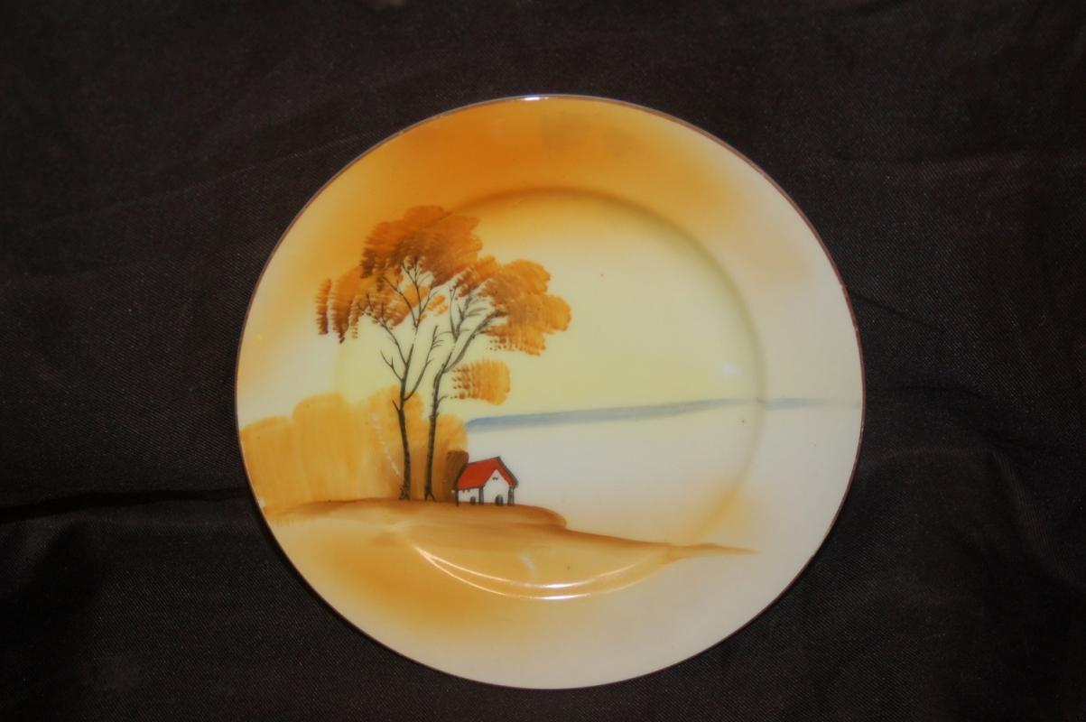 ORIENTAL PLATE HAND PAINTED