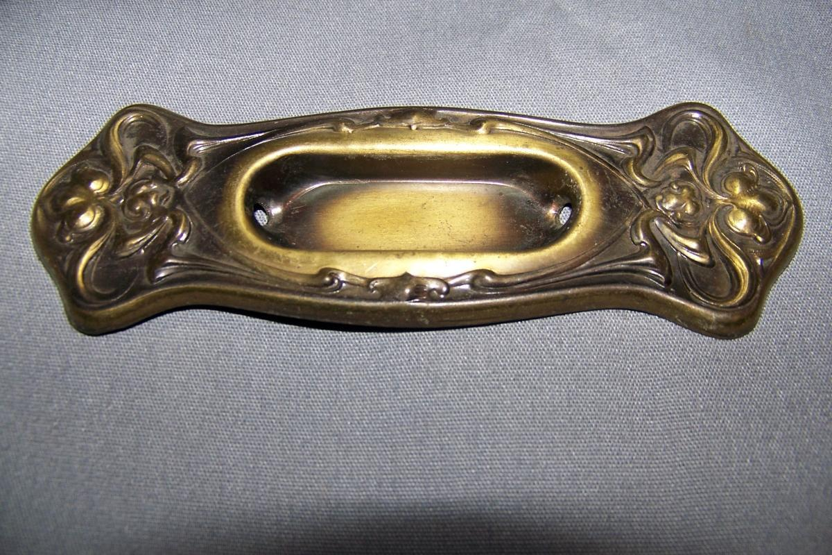 Vintage, Brass Plate Over Tin,/ Metal, Window Lifts