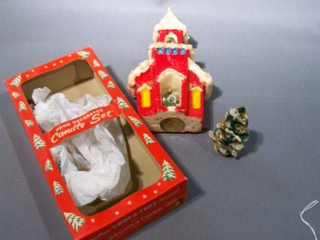 Christmas Wax Candle Set