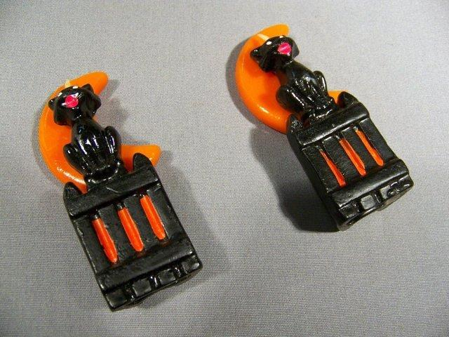 Halloween Wax Cat Candles