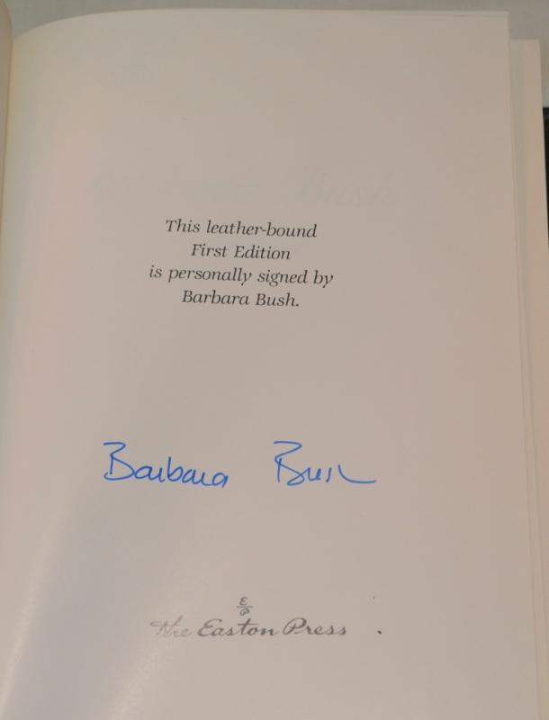 A MEMOIR BY BARBARA BUSH  - AUTOGRAPHED COPY!