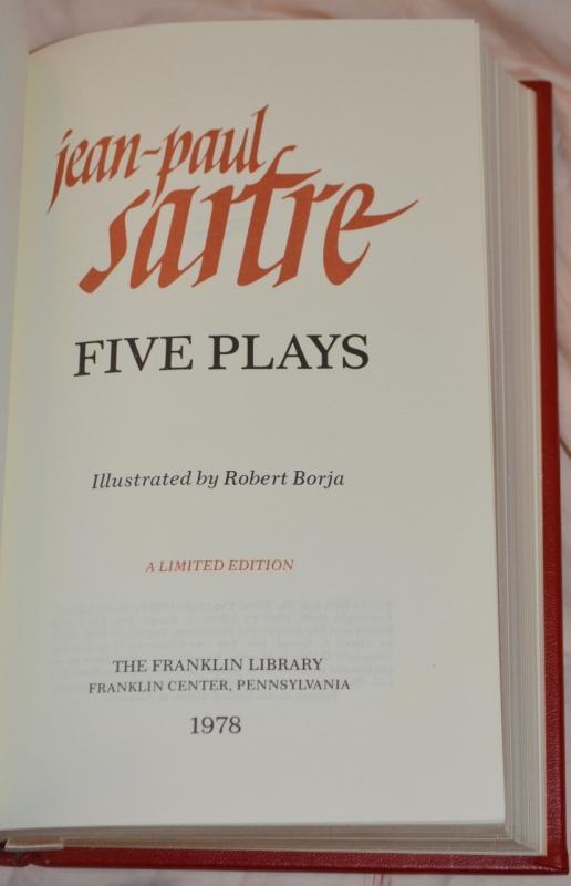 FIVE PLAYS by JEAN PAUL SARTRE  - AUTOGRAPHED COPY!