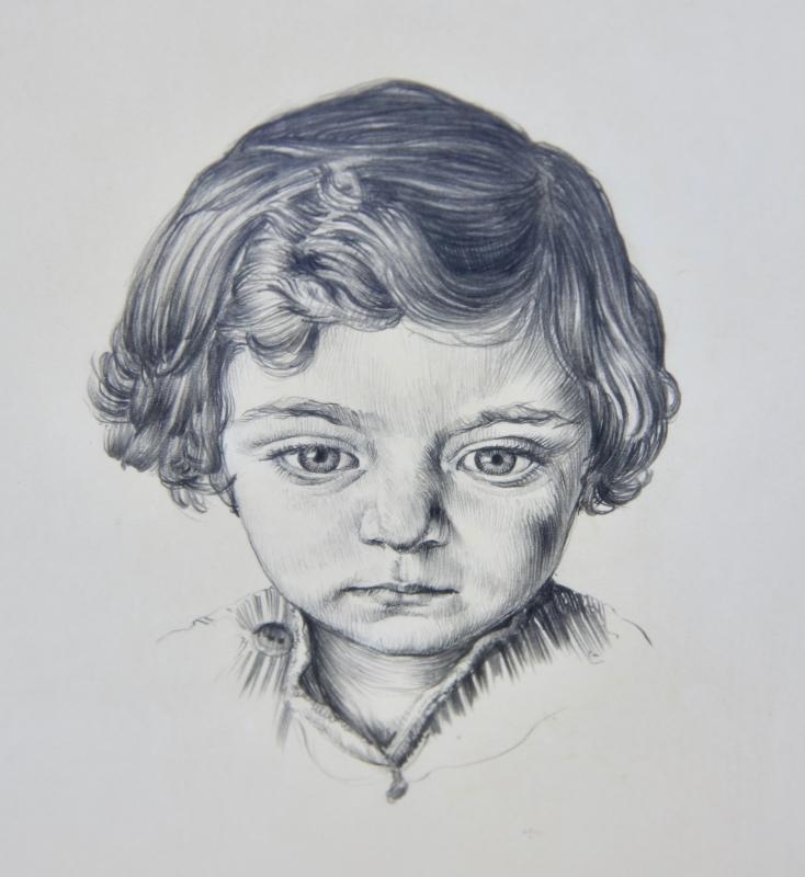 ORIGINAL EMIL KOSA JR. GRAPHITE (pencil) SKETCH