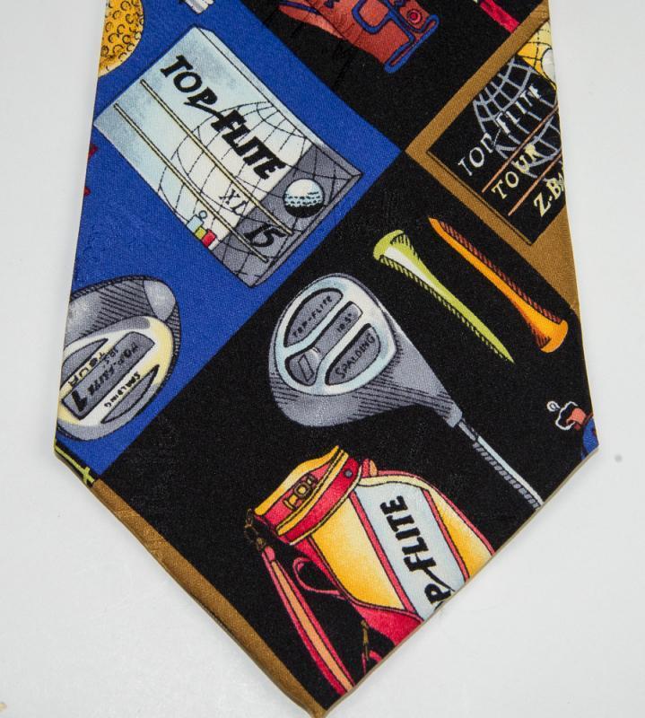 VINTAGE Nicole Miller Necktie - GOLF Design