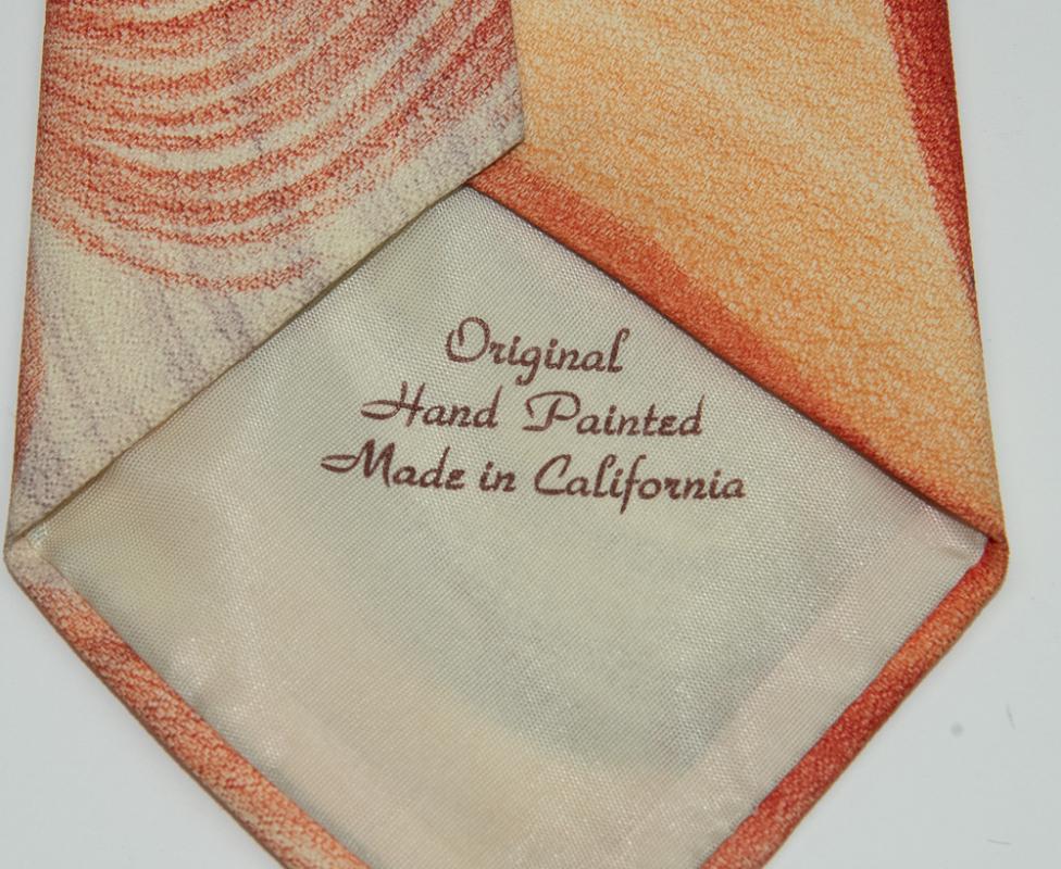 VINTAGE - Original Hand Painted Necktie