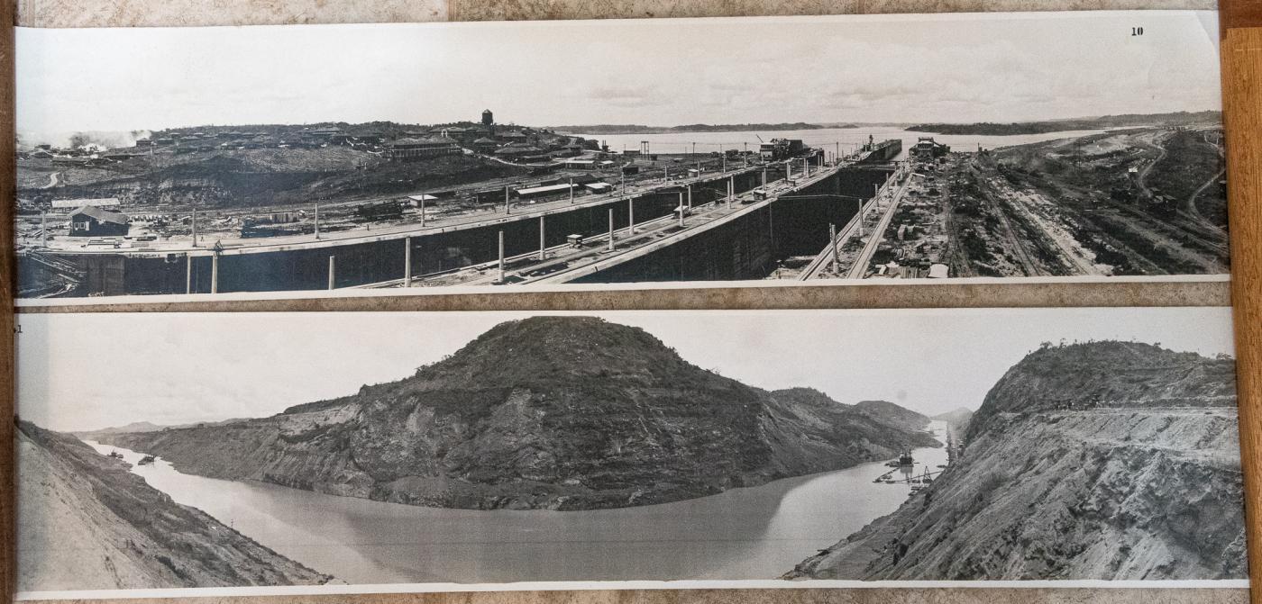 ORIGINAL PANAMA CANAL - PANORAMA PHOTOS - SET OF 6