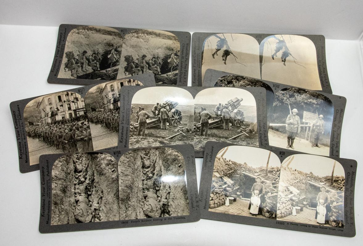 STEREOVIEWS - BOX SET OF 100 WORLD WAR I VIEWS