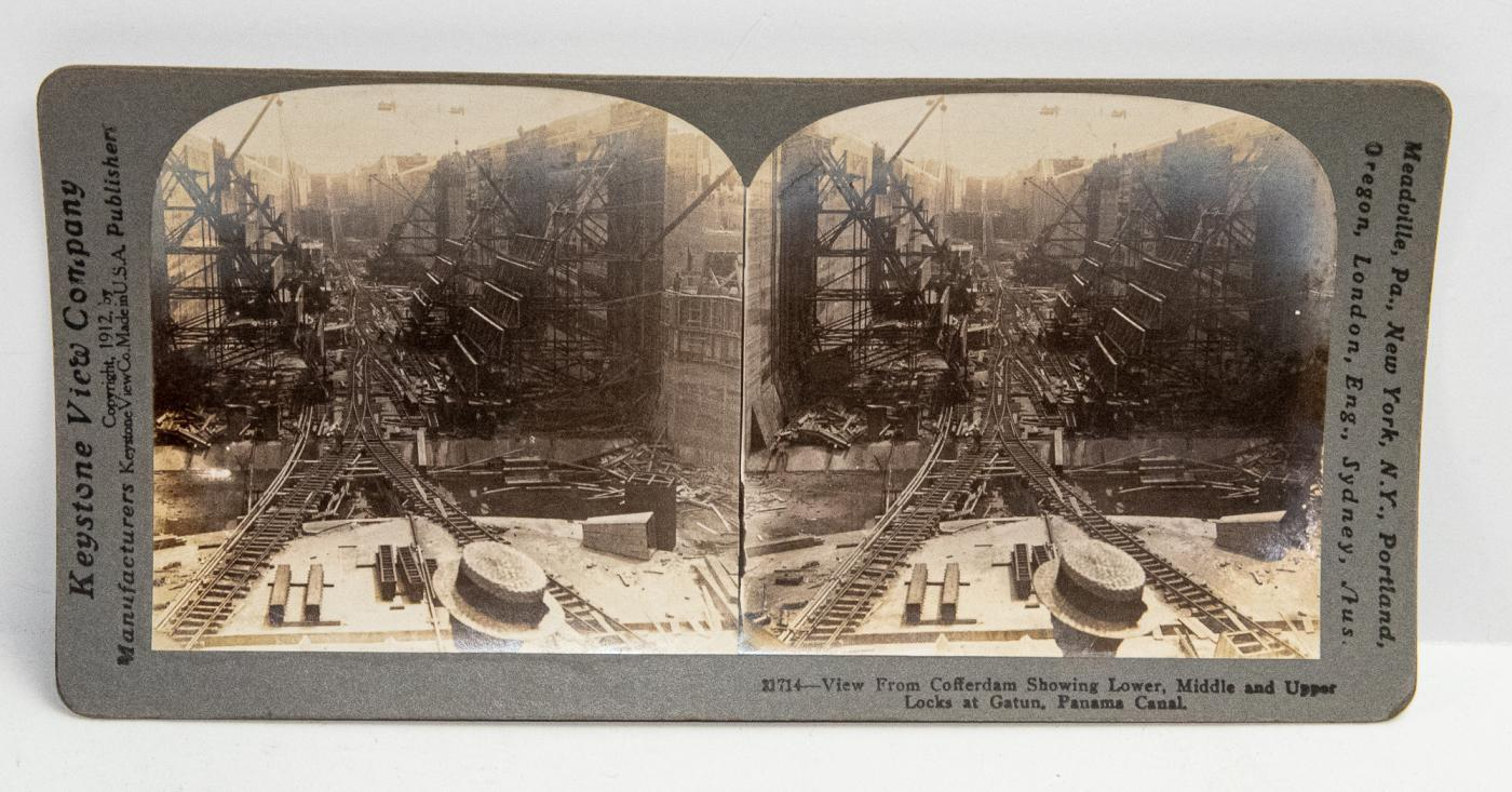 STEREOVIEWS - BOX SET OF 25 PANAMA CANAL