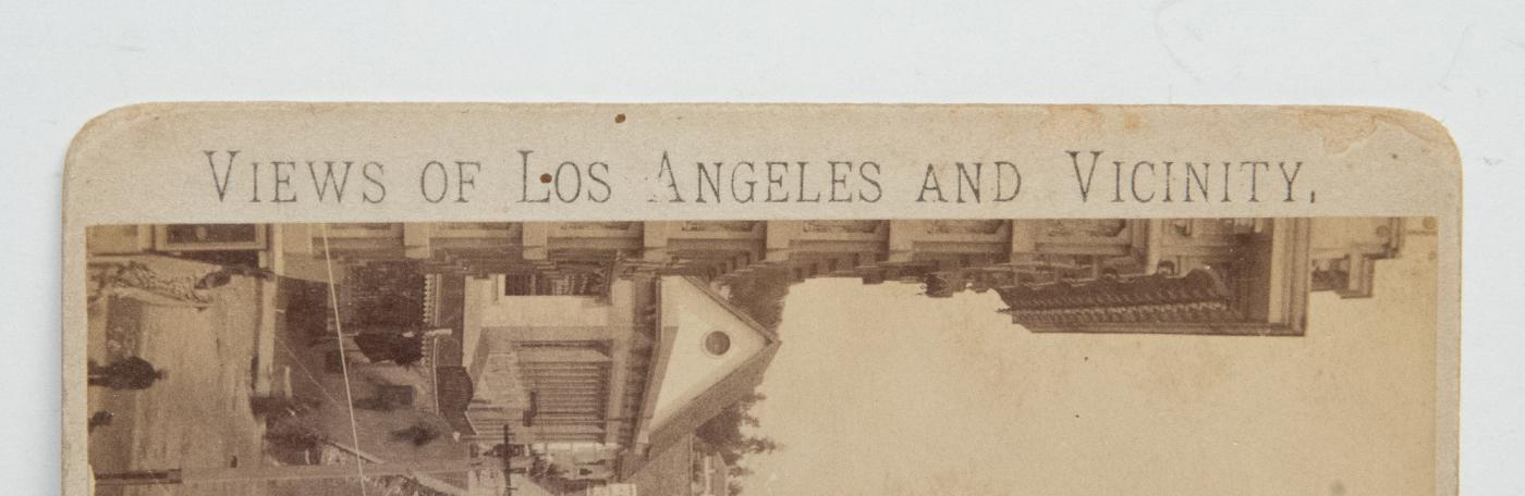 VERY EARLY BIRDS-EYE STEREOVIEW OF LOS ANGELES