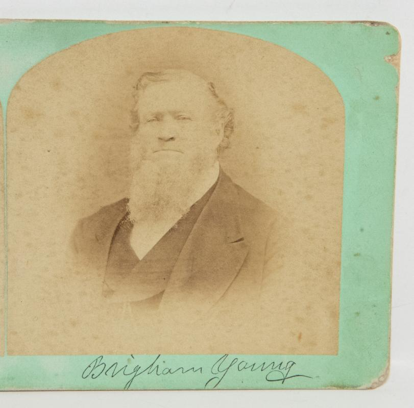 ORIGINAL STEREOVIEW OF MORMON LEADER, BRIGHAM YOUNG