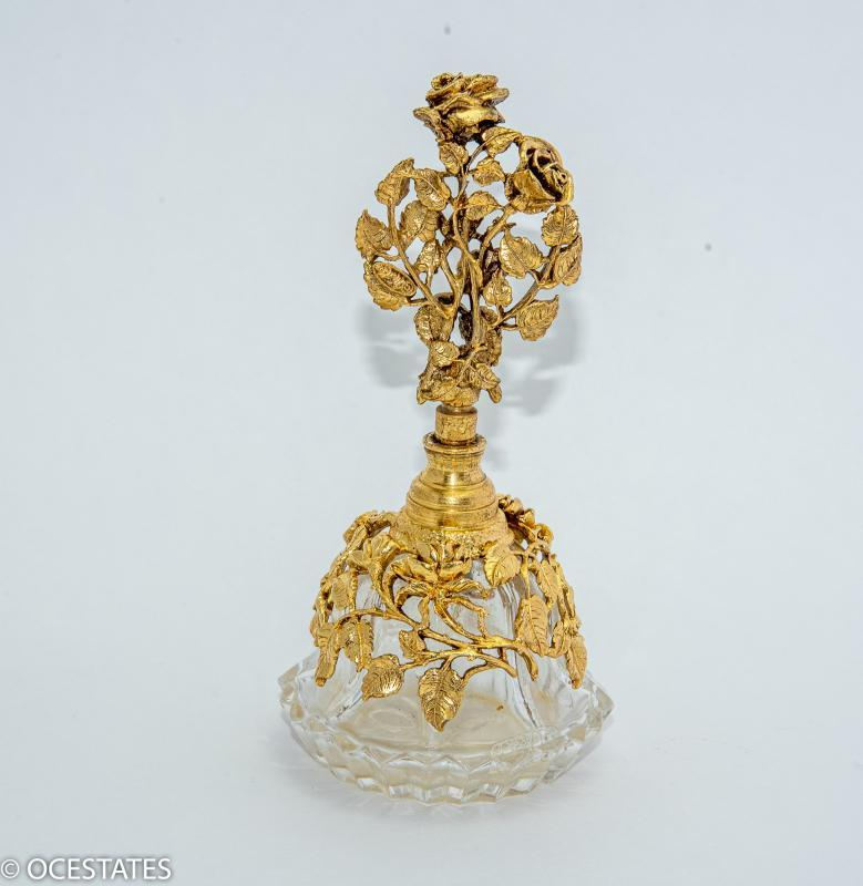 MATSON ORNATE FLORAL PERFUME BOTTLE