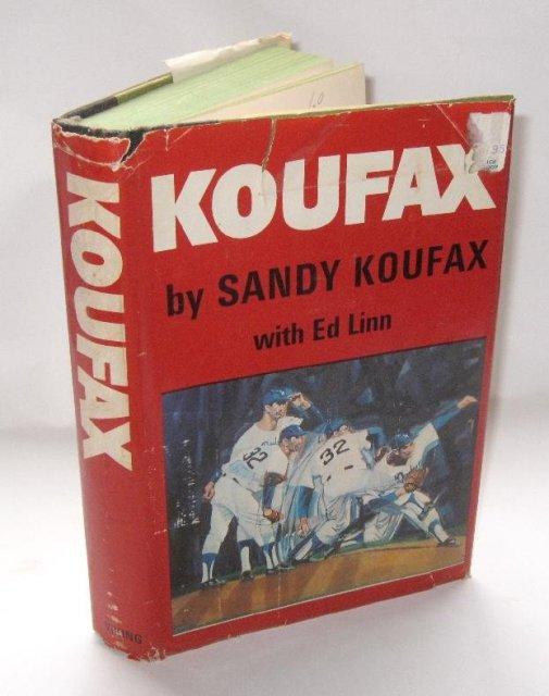 SANDY KOUFAX AUTOGRAPHED BOOK -