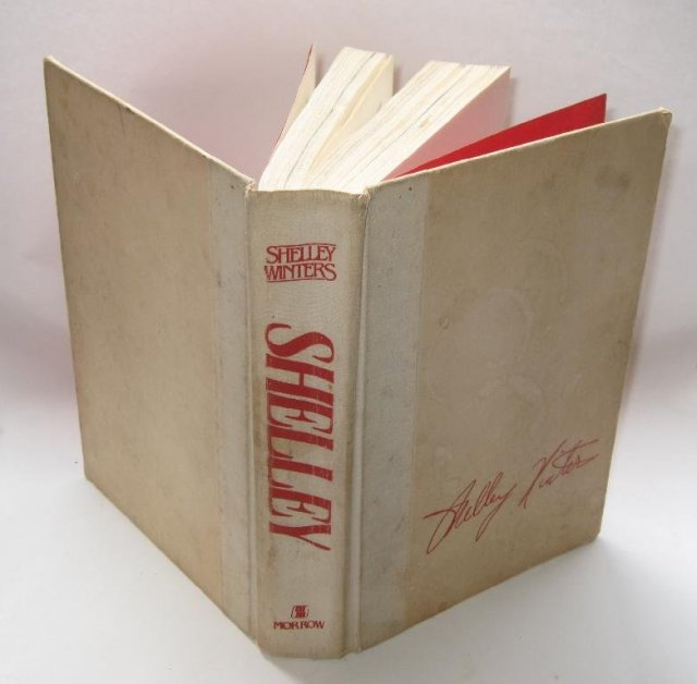 SHELLEY WINTERS AUTOGRAPHED AUTOBIOGRAPHY