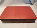 OLD LEATHER BOUND POST CARD ALBUM FULL OF VINTAGE EUROPEAN POST CARDS