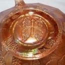 FENTON BUTTERFLY AND BERRY MARIGOLD CARNIVAL GLASS FTD BOWL