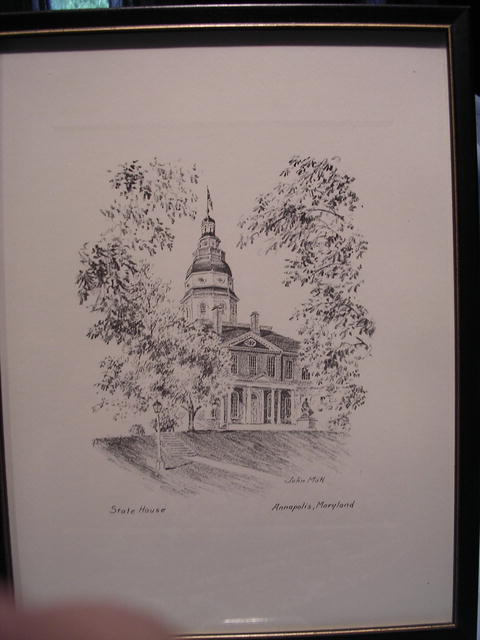 FRAMED PENCIL DRAWING