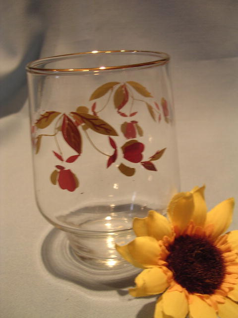 HALL AUTUMN LEAF 13 OZ  SHORT TUMBLER BROCKWAY