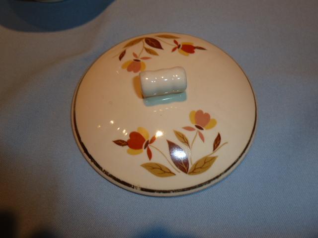 HALL JEWEL TEA AUTUMN LEAF RAYED DRIP JAR AND LID
