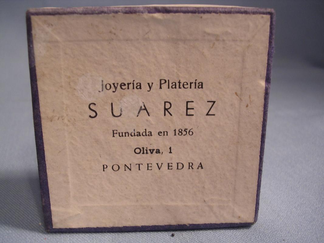 JOERIA PLATER SUAREZ SILVER SHELL PIN DISH ORIG BOX SPAIN
