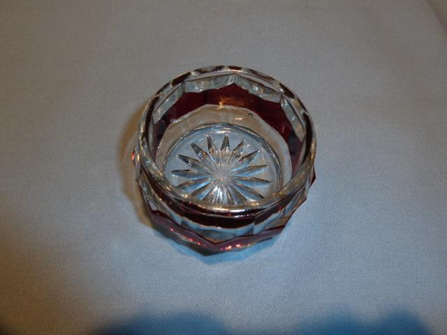 NEW MARTINSVILLE RED FLASH GLASS MASTER OPEN SALT 1915
