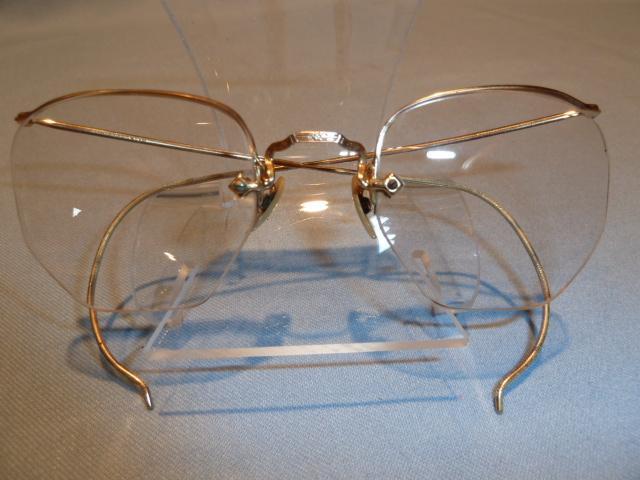 ANTIQUE ARTCRAFT NOKORRR EYE GLASSES SPECS WITH ORIGINAL CASE