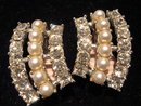 SARAH COVENTRY SIMULATED PEARL AND RHINESTONE CLIP ON EARRINGS
