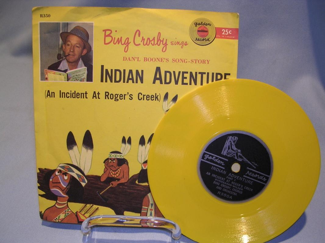 BING CROSBY INDIAN ADVENTURE DANIEL BOONE'S SONG-STORY GOLDEN RECORD 78 RPM CHILDRENS RECORD