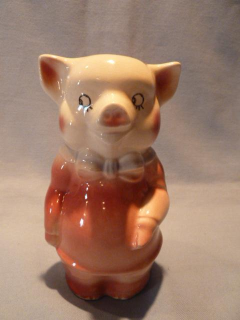 SPAUILDING PINK BOW TIE PIG PIGGY BANK