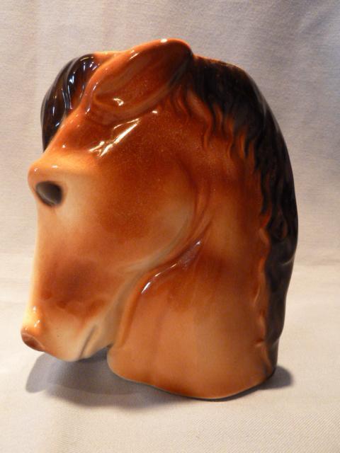 ROYAL COPLEY HORSEHEAD VASE PLANTER 1950'S