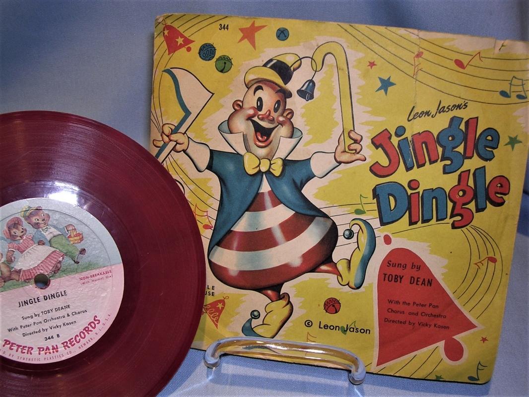 1953 Leon Jason's JINGLE DINGLE Children's RECORD Toby Dean Peter Pan 78rpm