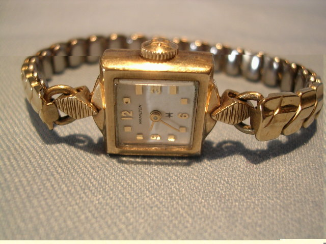 HAMILTON LADIES 22 JEWEL10K GOLD FILLED WRIST WATCH