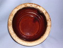 HULL POTTERY MIRROR HOUSE AND GARDEN BROWN DRIP  CEREAL SOUP BOWL