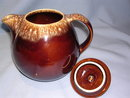 HULL BROWN DRIP HOUSE & GARDEN TEAPOT WITH LID