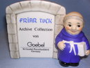 RARE GOEBEL BLUE FRIAR TUCK ARCHIVE COLLECTION SIGN FIGURINE SIGNED