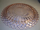 WATERFORD WAFFLE PINK DEPRESSION 9 5/8 INCH DINNER PLATE