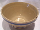 WATT POTTERY  BAK-EZEE 9 IN BLUE BAND MIXING BOWL