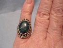 Ladies  Sterling Silver and Turquoise Ring