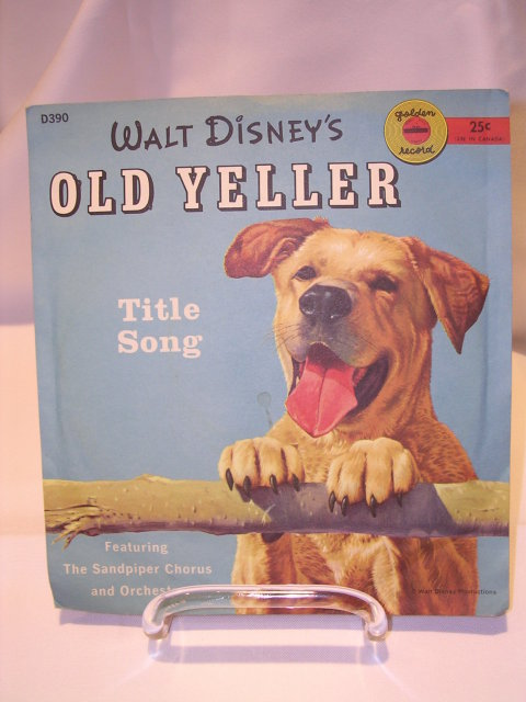 WALT DISNEY'S OLD YELLER 78 RPM GOLDEN  RECORD IN ORIGINAL SLEEVE  D390