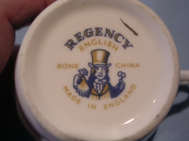 REGENCY ENGLISH BONE CHINA  JULY VIOLETS CUP & SAUCER