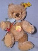 STEIFF ORIGINAL TEDDY BEIGE 7 INCH BEAR 0201/18 EAR BUTTON ,EAR, CHEST AND HANG TAGS