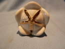 HALL  CHINA  IVORY AND GOLD DECANTER STOPPER